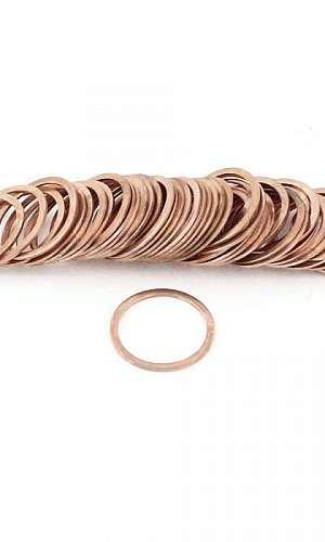 Anel de cobre vedação