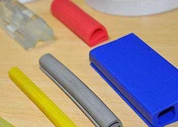 Perfil de silicone colorido